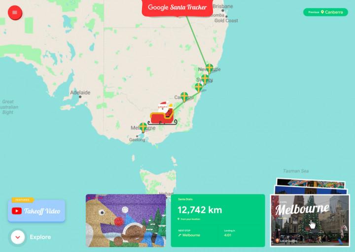 Благодаря Google Деда Мороза можно вызвать через смартфон