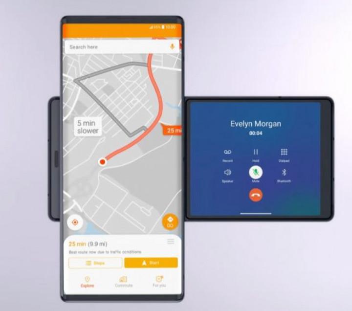 LG презентовали свой новый Т-образный смартфон LG Wing